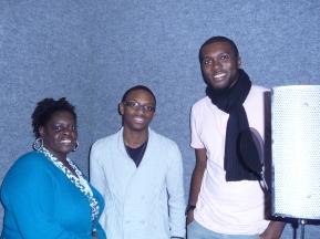 BVs - Pauline, Michael & Jerome for 'I Will Go On'. Nov 2012