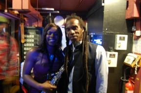 Millicent with Benjamin Zephaniah, a great Poet! Jan 2013