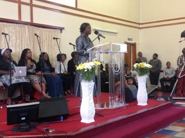 Millicent at New Testament Church of God Brooks Barr Aug 2013