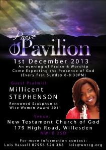 Millicent - Praise Pavillion Willesden NTCG High Road, NW10  2SD