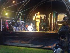 Millicent at the Commemorative Celebration for Nelson Mandela Brixton, London.