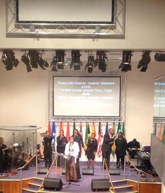 Guest Psalmist at Willesden NTCG. With Worship Team Dec 13