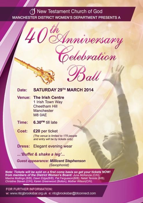 40th Annual Ball 2014 A5 Flyer FINAL