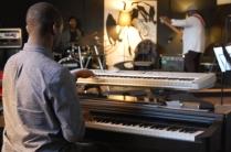 'Not Just Jazz' rehearsal Noval, Corey & Jahinglish tuning up