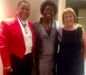 Reuben (President of Circle of Toastmasters.  Millicent (Saxophonist) & Pat Lynch (Reuben Lynch's wife)