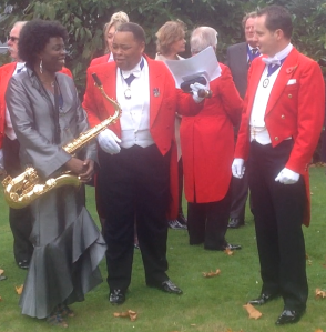 Circle of Toastmasters and Millicent Stephenson Saxophonist