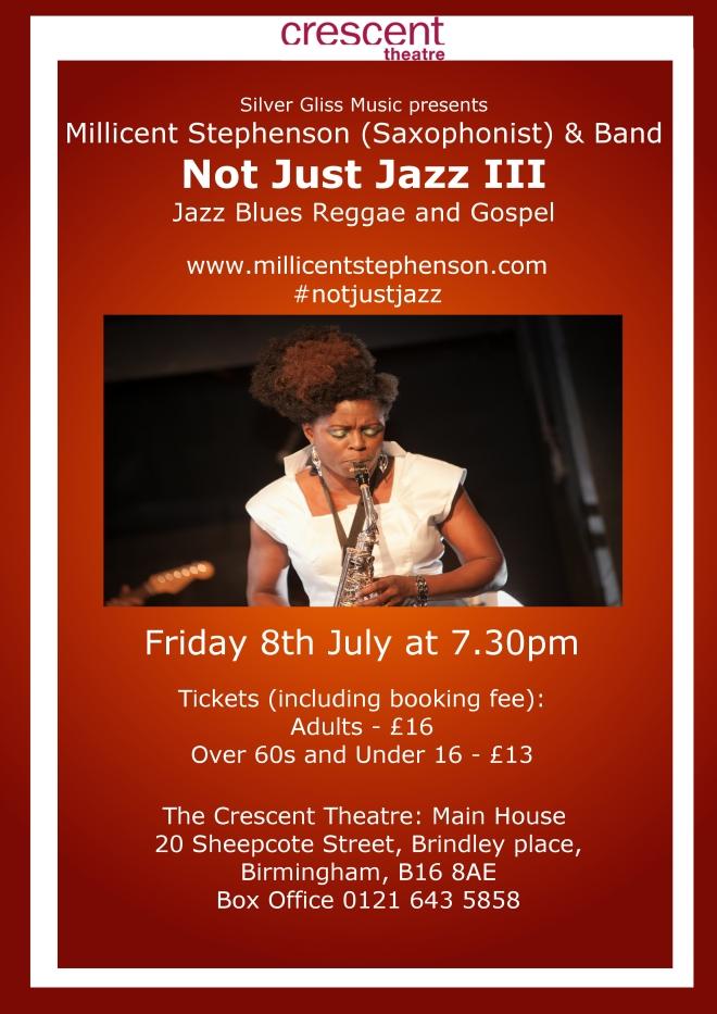 Not Just Jazz III Crescent Theatre www.millicentstephenson.com