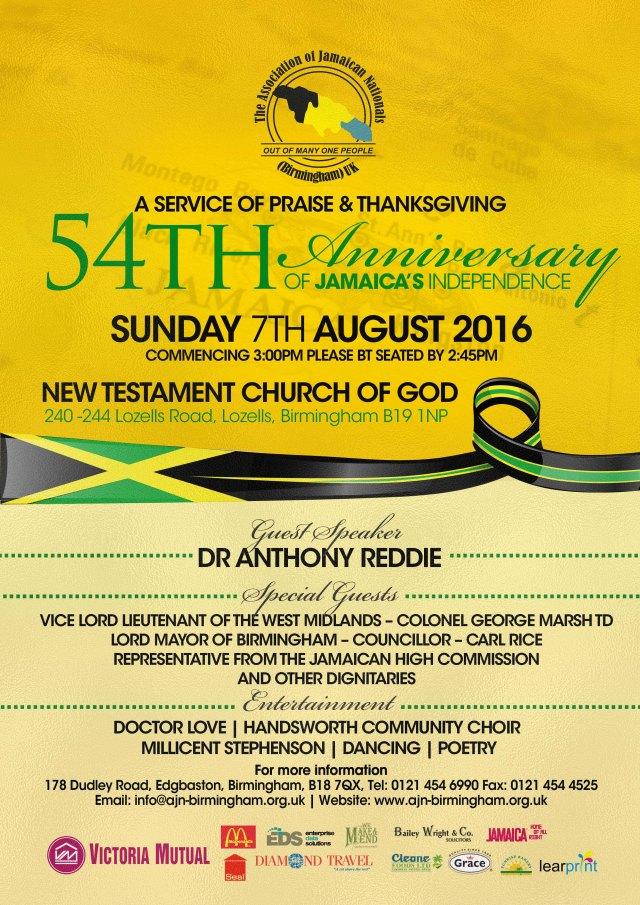 Association of Jamaican Nationals Millicent Stephenson 2016